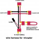 Tricopter power wiring